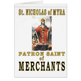 SAINT NICHOLAS de MYRA Carte De Vœux