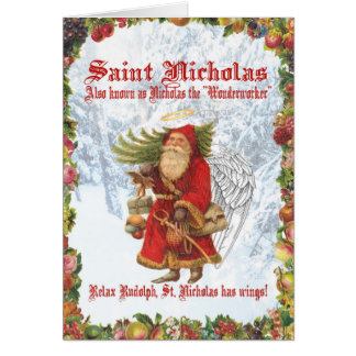 Saint Nicholas de Noël 4 Carte De Vœux