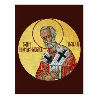 Saint Nicholas la carte de prière de