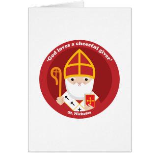 Saint-Nicolas Carte De Vœux