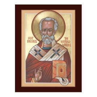 Saint-Nicolas la carte de prière de Wonderworker Cartes Postales