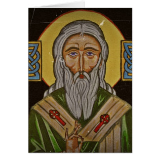 Saint Patrick de croix celtique Carte De Vœux