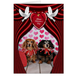 Saint-Valentin - Brooklyn et Mandy - teckels Cartes