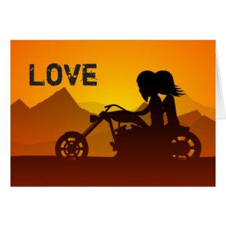 Saint-Valentin de montagnes d'AMOUR de couples de Cartes De Vœux