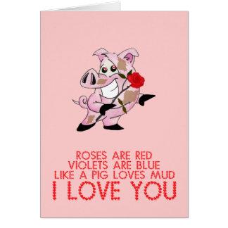 Saint-Valentin drôle mignonne Cartes