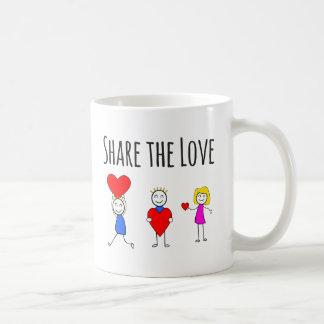 Saint-Valentin et amour - partagez l'amour - tasse