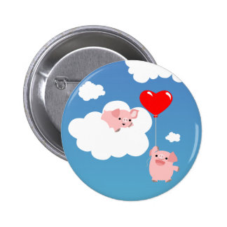 Saint-Valentin : Les ailes de l'insigne de bouton  Pin's