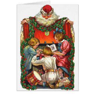 Saint vintage Nicholas de Noël Carte De Vœux