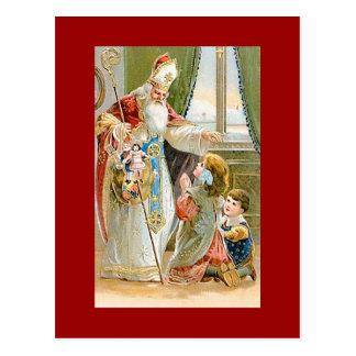 Saint vintage Nicholas de Noël Cartes Postales