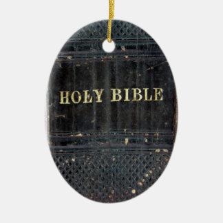 Sainte Bible Ornement Ovale En Céramique