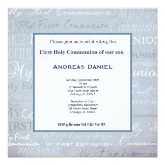 Sainte communion carton d'invitation  13,33 cm