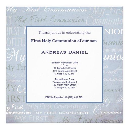 Sainte communion invitation personnalisable