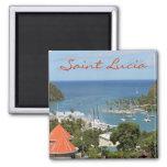 Sainte-Lucie de baie de Marigot Magnet Carré
