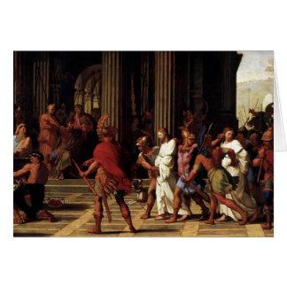Saints d'Eustache Sueur- amenés avant Anastasius Carte De Vœux