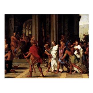 Saints d'Eustache Sueur- amenés avant Anastasius Carte Postale