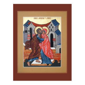 Saints Joachim et carte de prière d'Anna Cartes Postales