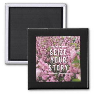 Saisissez votre histoire aimant de 2 pouces