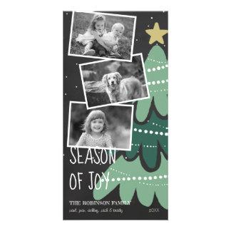 Saison de carte photo d'arbre de Noël de joie