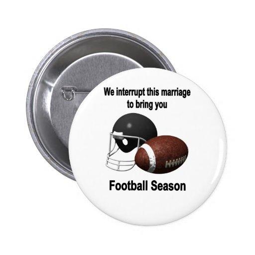 Saison de football badges avec agrafe