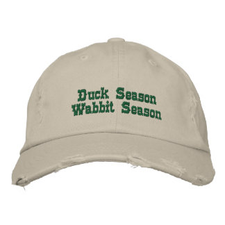 Saison de Wabbit de saison de canard Casquettes Brodées