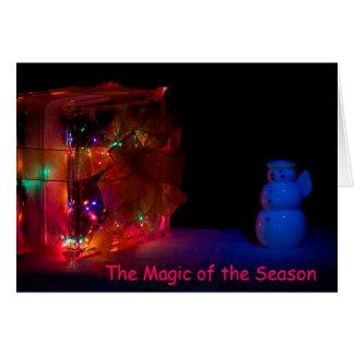 Saison magique de Noël Carte De Vœux