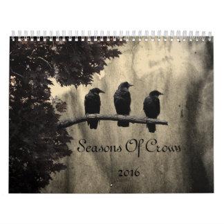 Saisons des corneilles 2016 calendrier