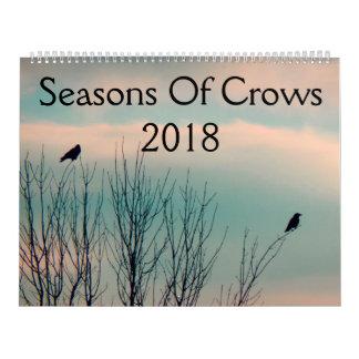 Saisons des corneilles 2018 calendrier mural