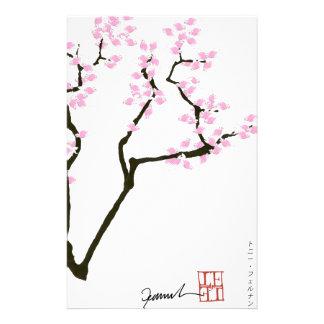 Sakura avec le poisson rouge rose, fernandes papiers à lettres