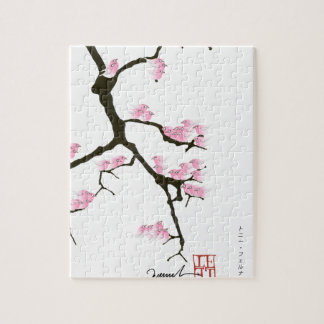 Sakura avec les oiseaux roses par les fernandes puzzle