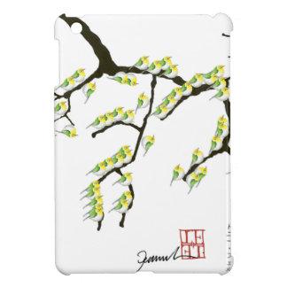Sakura avec les oiseaux verts, fernandes élégants coque iPad mini