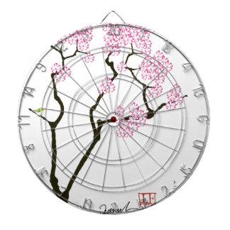 Sakura avec l'oiseau vert, fernandes élégants jeux de fléchettes