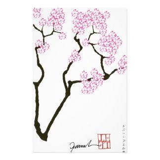 Sakura avec l'oiseau vert, fernandes élégants papiers à lettres