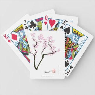 Sakura chanceux et poisson rouge rose, fernandes cartes à jouer