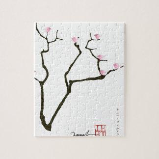 Sakura et 7 oiseaux roses 1, fernandes élégants puzzle