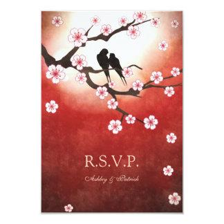 Sakura et inséparables RSVP Carton D'invitation 8,89 Cm X 12,70 Cm