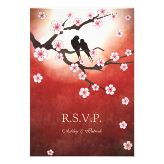 Sakura et inséparables RSVP Invitation