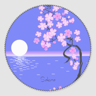 Sakura Sticker Rond