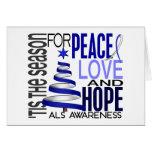 SAL de vacances de Noël d'espoir d'amour de paix Cartes De Vœux