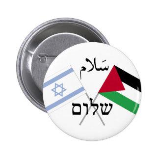 Salaâm Shalom de paix de l Israël Palestine Badges Avec Agrafe