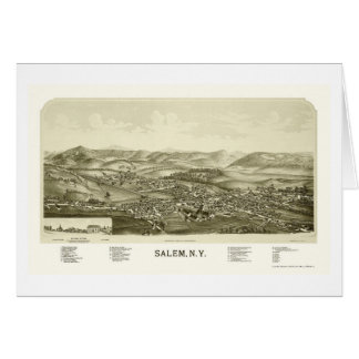 Salem, carte panoramique de NY - 1889
