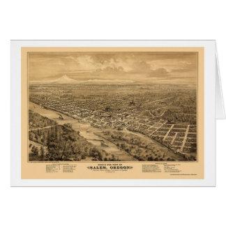 Salem, OU carte panoramique - 1876