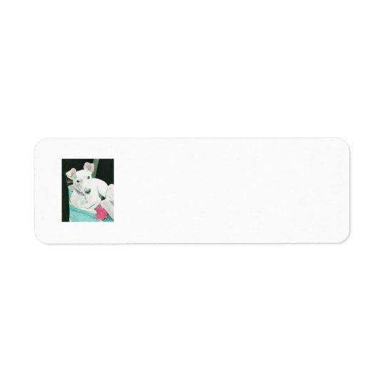 Salissez le Jack Russell Terrier Étiquette D'adresse Retour