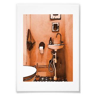Salle de bains couleur pêche géniale photographie