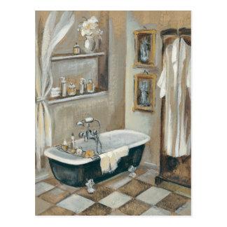 Salle de bains française neutre carte postale