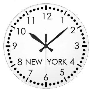Salle de presse simple de New York Grande Horloge Ronde