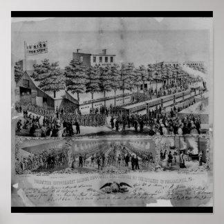 Salle volontaire de rafraîchissement guerre civil posters