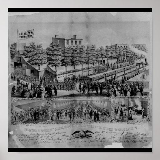 Salle volontaire de rafraîchissement, guerre civil posters