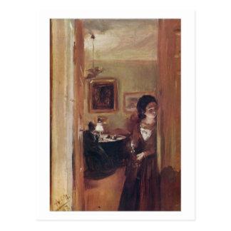 Salon avec la carte postale de la soeur de