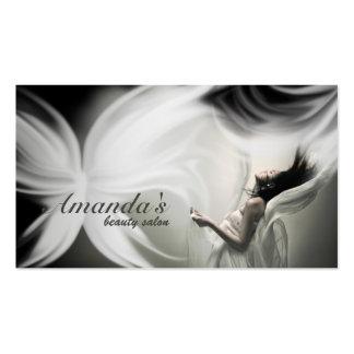 Salon de beauté de papillon et carte blancs de mod carte de visite standard