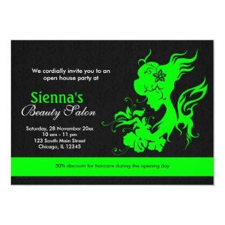 Salon de beauté d'ouverture officielle (chaux) invitation personnalisée